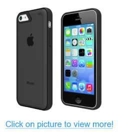 Tech Armor FlexProtect Grip Sheer Scratch-Resistant Case / Cover with Bumper for iPhone 5c (Black/Black) Lifetime Warran