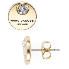 Marc Jacobs Coin Stud Earrings ($48) ❤ liked on Polyvore featuring jewelry, earrings, sparkle jewelry, stud earrings, marc jacobs jewelry, sparkly earrings and coin jewellery