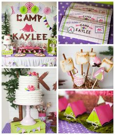 Glamping themed birthday party Full of REALLY CUTE IDEAS via Kara's Party Ideas! full of decorating ideas, cakes, favors, printables, games,...