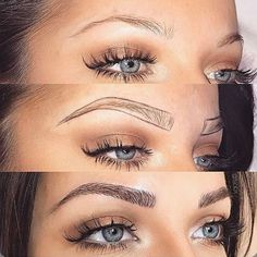 Make Up; Make Up Looks; Make Up Augen; Make Up Prom;Make Up Face; Eyebrow Makeup Tips, Permanent Makeup Eyebrows, Eyebrow Pencil, Skin Makeup, Eyebrow Tinting, Eyebrow Shading, Eye Brow Drawing, Eyebrow Wax, Eyelash Tinting