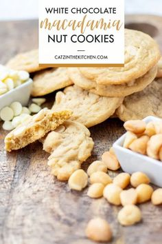 This simple recipe for white chocolate macadamia nut cookies has been a favorite in our house for over ten years now - try it and see why! White Chocolate Recipes, White Chocolate Macadamia, White Chocolate Chips, Great Desserts, Cookie Desserts, Dessert Recipes, Easy Peanut Butter Cookies, Yummy Cookies, Delicious Cookie Recipes