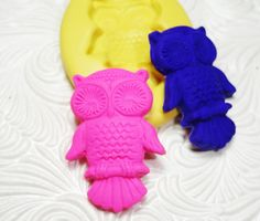 Owl Mold Flexible Silicone Rubber Push Mold for Resin Wax FIMO Fondant Royal Icing Chocolate Polymer Clay Metal Clay