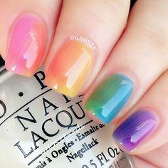 another gradient mani used @opi_products sheer tints collection #opi #ombre #opisheertints #gradientnails #craftyfingers #cute_polish #dramaqueennails #dailynailart #dailydigits #fashion9ds #fckyeahnailart #hairnailsdiary #hnfash #ignails #lovemanicure #manicure #mani #mermaiddiary #pfpnails #seizethenail #shoedreamz #thenailartstory #yumnails