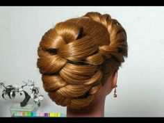 """? ???????? ???????? ? ????????? ???? """"????"""". Evening hairstyle for long hair with twist braid - YouTube"""