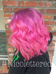 Purple and pink ombre by Nicolette Redinger @ Poppy an Eco-Friendly Salon and Spa. Pullman, WA. www.salonpoppy.com