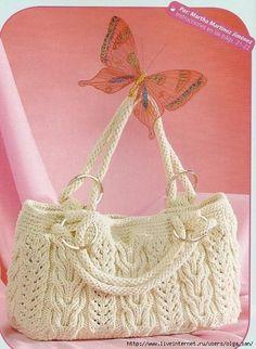 mis pasatiempos amo el crochet¡¡¡¡:): CON PATRONES CARTERA EN DOS AGUJAS =PARA…