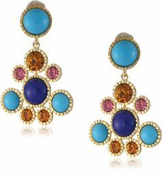 Kenneth Jay Lane Gold, Lapis, Turquoise and Pastel Cluster Drop Earrings Kenneth Jay Lane. $175.00. Made in United States. Founded in 1963, Kenneth Jay Lane jewelry has been adorning glamorous women for over 4 decades, proving that faux can be chic. Founded in 1963, Kenneth Jay Lane jewelry has been adorning glamorous women for over 4 decades, proving that faux can be chic Made in USA. Innovative, gifted and imaginative, Kenneth Jay Lane's fabulous costume jewelry...