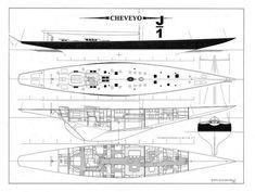 """Cheveyo"" J-Class racing yacht (3)"