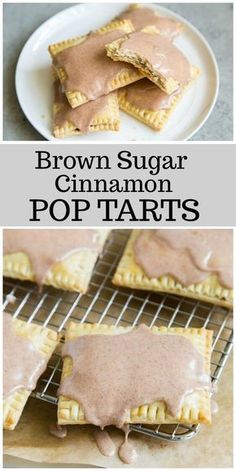 Brown Sugar- Cinnamon Pop Tarts - - Here's a homemade pop tarts recipe - the best pop tart recipe out there! This is the brown sugar cinnamon pop tarts variety. Cinnamon Pop Tart, Brown Sugar Cinnamon Poptarts, Brunch Recipes, Dessert Recipes, Breakfast Recipes, Easy Breakfast Ideas, Homemade Breakfast, Homemade Pastries, Desert Recipes