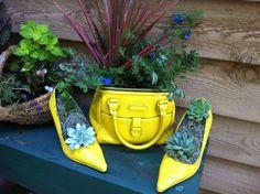 Garden Yard Ideas, Garden Crafts, Balcony Garden, Garden Planters, Succulents Garden, Garden Projects, Recycling Containers, Succulents In Containers, Container Gardening