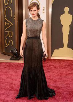 Les robes des Oscars 2014: Emma Watson en Vera Wang   Elle Québec #Oscars