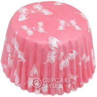 Pink butterfly cupcake case .... what's not to like?!