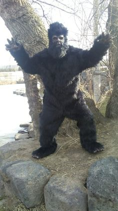 Bigfoot costume suit. & Bigfoot Mascot Costume: This full-body Bigfoot suit is made of ...