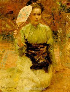 Vlaho Bukovac (Biagio Faggioni) - A Croatian Painter Art Japonais, Post Impressionism, Renoir, Old Master, Art Themes, Western Art, French Art, Figure Painting, Asian Art