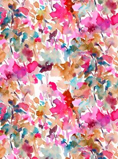 Local Color (Pink) Art Print watercolor abstract print by Jacqueline Maldonado