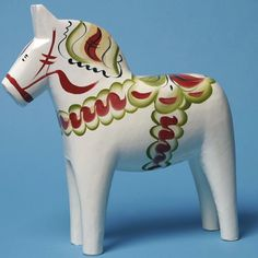 Beautiful crafted Dala Horse, each one hand made so completely unique. Iconic symbols of Sweden which is were these are made. Beautiful pieces of tradition.