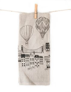 Danica Studio Linen Panorama Tea Towel @ Pigment