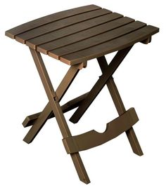 Cool #Go4USA Product…   Quik-Fold Side Table - Earth Brown  at Orchard Supply Hardware
