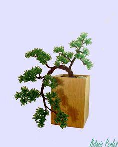 Petit bonsaï en perles de rocaille style cascade