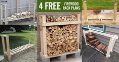 Build your DIY firewood rack from 2x4s or 4x4s using these 4 free plans. All lumber specifications and cut-to dimensions are included.