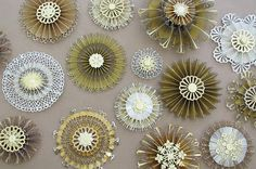 fancy paper medallions using edge punches