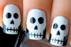 From googly-eyed Frankensteins to spooky skeletons, YouTube's top polish gurus are offering up tons of options for Halloween-inspired nail art this year.  Lacquer lovers and manicure beginners alike can follow their step-by-step instructions to create these ten too-cool designs.  Don't be afraid give them a go—it would be scarier to miss out!»