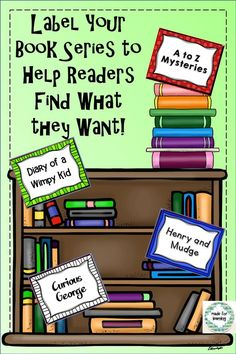 51 book series signs for the school or classroom library.  $