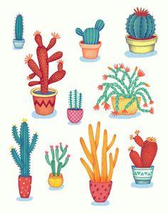 Cactus! by Jessica HJ Lee, via Behance