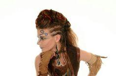 My hair show creation! Warrior woman