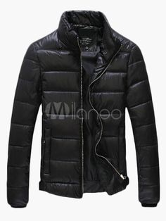 Cotton Blend Stand Collar Quilted Jacket - Milanoo.com
