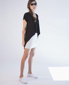 au lait | Premium Nursing Tops | The Tee Nursing Dress in Black/Lt Grey Heather | www.aulaitshop.com