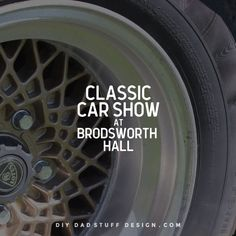 Classic Car Show event at Brodsworth Hall near Doncaster UK. A great day out for all the family