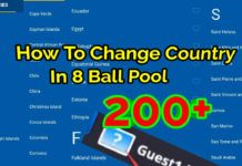 How To Change Country In 8 Ball Pool Pool Balls Pool Pool Games
