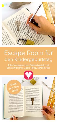 "Escape room game at your home! You want an escape room # Children's birthday and exciting with the kids do? It's easy with the template ""The Party Thief"". Just have a look at our website and let yourself be drawn to the exciting Escape Room Room Escape Games, Escape Room For Kids, Kids Room, Escape Room Diy, Games For Kids, Diy For Kids, Breakfast Party, Puzzles, Anniversaire Harry Potter"