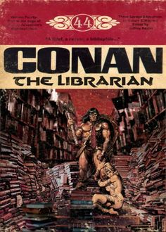 """Patron: """"Could you tell me where I can find a book on astronomy?""""   Conan the Librarian: (lifting patron in the air with one arm) """"Don't you know the Dewey Decimal System!?"""""""