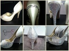 Love this! I'm blinging out a pair of black satin heels for Vegas. It's taking forever. Should look pretty though!!