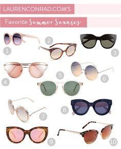 Tuesday Ten: Our Favorite Summer Sunnies - Lauren Conrad