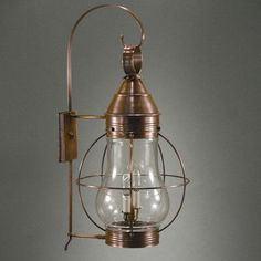 Northeast Lantern Onion 2 Light Outdoor Wall Lantern Finish: Raw Brass, Shade Type: Clear