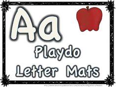 Got Playdoh? FREE alphabet playdough mats - Kindergarten Lifestyle