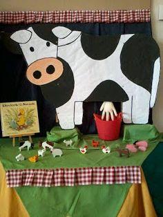 Milk The Cow Dramatic Play - Farm Activities, Animal Activities, Preschool Activities, Preschool Farm, Farm Animal Crafts, Farm Animals, Farm Crafts, Milk The Cow, Farm Day
