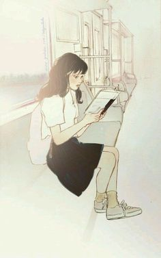 Aesthetic Anime, Aesthetic Art, Cartoon Girl Drawing, Korean Artist, Anime Art Girl, Character Drawing, Art Plastique, Cute Illustration, Fanart