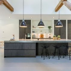 This thing is absolutely an extraordinary style procedure. Open Plan Kitchen Living Room, Kitchen Room Design, Big Kitchen, Modern Kitchen Design, Dining Room Design, Kitchen Dining, Design Moderne, Cuisines Design, Küchen Design