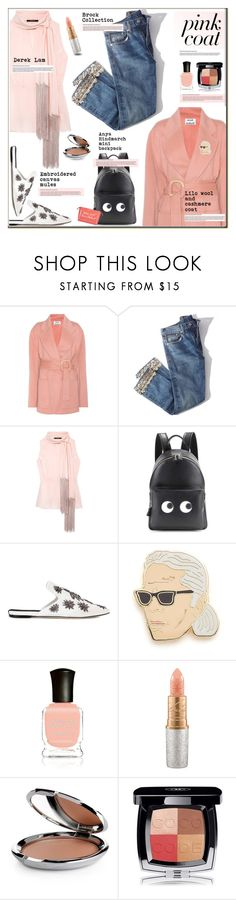 """""""Think pink"""" by anne-irene ❤ liked on Polyvore featuring Acne Studios, Brock Collection, Derek Lam, Anya Hindmarch, Sanayi 313, Georgia Perry, Deborah Lippmann, MAC Cosmetics, Chantecaille and Chanel"""