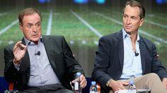 Collinsworth and his NBC broadcast partner Al Michaels.