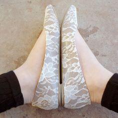 Graceful Lace FlatsDIY