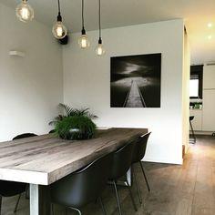 Verlichting eetkamer Modern Decor, Decor, Home Kitchens, Sweet Home, Furniture, Interior, Home Decor, House Interior, Room