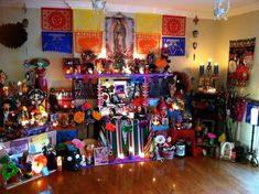 2014 Day of the Dead Lighted Altar- A Signed Fine Art Photograph- Let's Celebrate Day Of The Dead Art, Religious Images, Halloween 2, Lets Celebrate, In This Moment, Let It Be, Display, Fine Art, Photograph