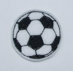 Felt Soccer ball Applique Embroidery mini by DBembroideryDesigns, $3.99