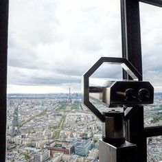 the view from the panoramic observation deck of Tour Montparnasse, the tallest building in Paris