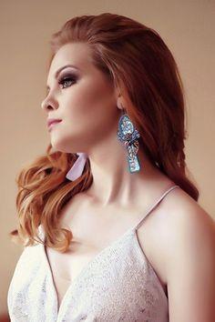 Soutache earrings with shell